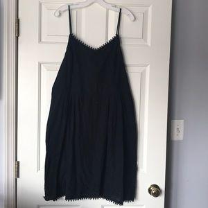 Women's black strappy dress